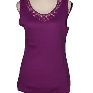 Croft & Barrow hollyhock tank new with tags $24.00